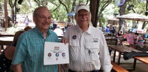 Oldest Driver Award at the Moontower Road Rally July 20, 2019