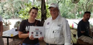 Youngest Driver Award at the Moontower Road Rally July 20, 2019