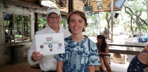 Youngest Navigator Award at the Moontower Road Rally July 20, 2019